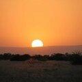 coucher de soleil parc national à Awash