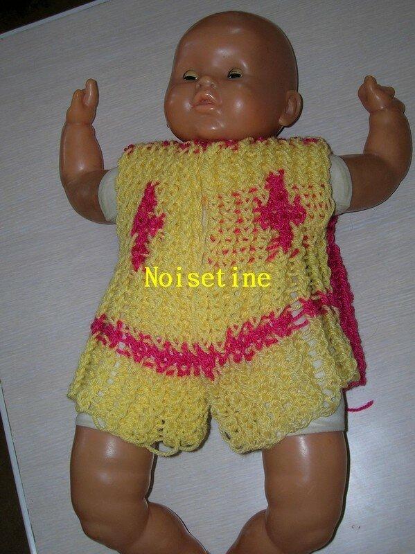gilet de poupée (avant)