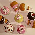 Boules de Noël, religieuse et cupcakes
