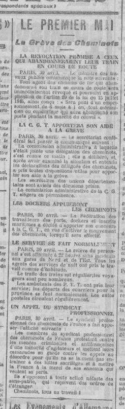 Premier mai 1920 Petit Comtois
