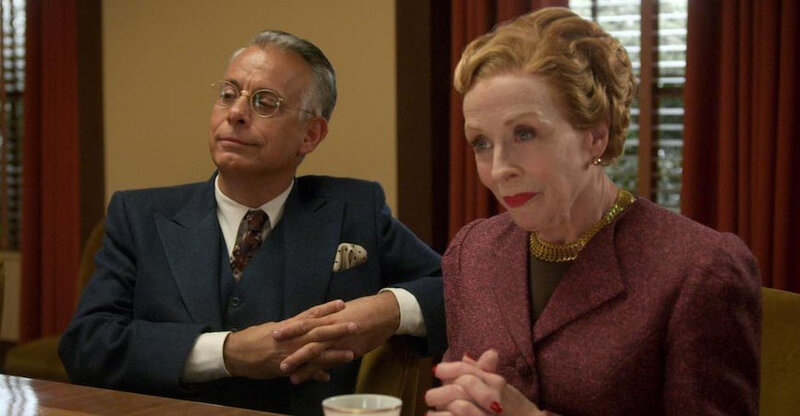 Joe-Mantello-and-Holland-Taylor-as-studio-executives-in-Hollywood-on-Netflix