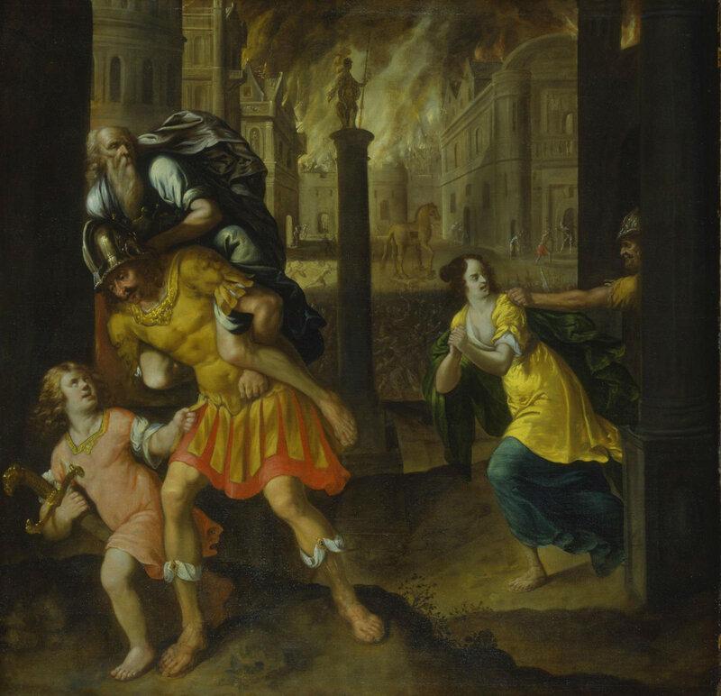 Aeneas-family-fleeing-Troy
