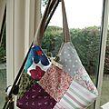 Un sac de style patchwork avec tuto