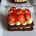 Le trio chocolat - citron - fraise