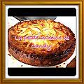 Gâteau aux pommes beurrées caramélisées