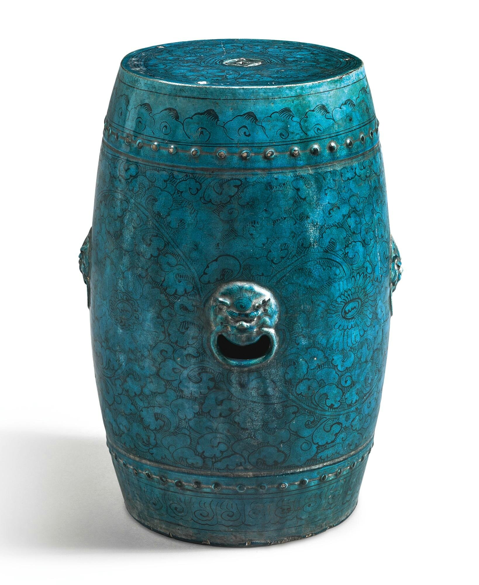 A painted and turquoise-glazed 'Cizhou' garden seat, Ming dynasty, 16th century