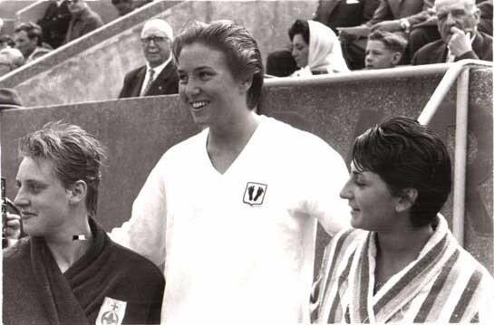 Natation-1962. Heda Frost et Alain Gottvallès à l'honneur