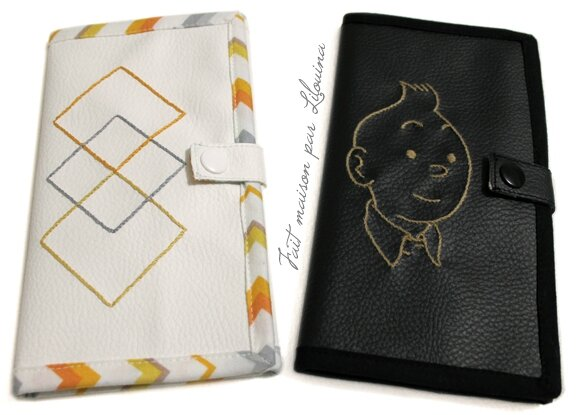 pochette pour papiers de voiture fait maison par lilouina. Black Bedroom Furniture Sets. Home Design Ideas