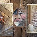 Restauration du mur de l'escalier du couloir