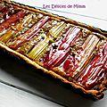 Tarte sablée, rhubarbe, amandes et pistaches (version 1.1)