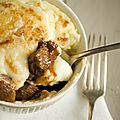Cassolettes d'agneau-purée de pommes de terre
