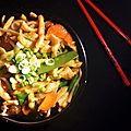 Gnocchis façon nouilles chinoises