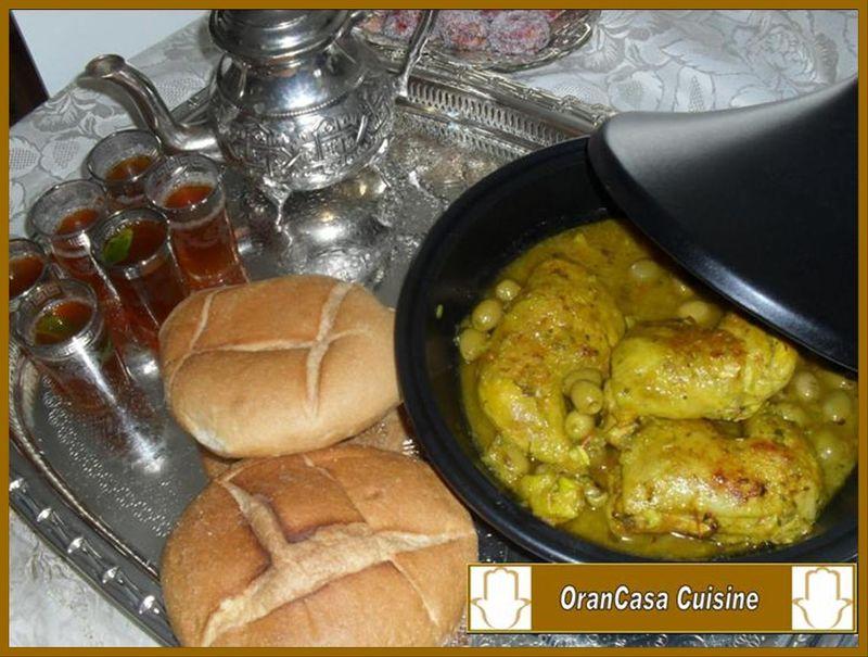 Tajine poulet et olives
