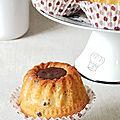 Cakes moelleux ou muffins à la ricotta et chocolat