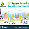Le forum low carbon city