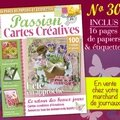 Le n°30 de passion cartes créatives arrive....