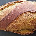Pain à la farine de blé brûlé et aux graines de tournesol torréfiées