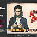 Nick cave and the bad seeds / concerte blonde - vendredi 5 juin 1992 - zénith (paris)