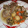 Sauté d'agneau aux 5 légumes