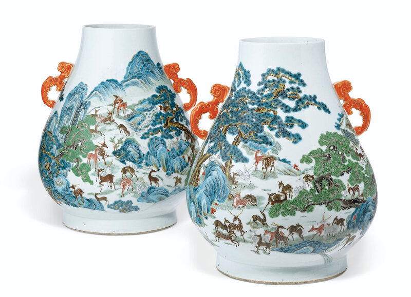 2019_NYR_16950_1104_000(a_pair_of_famille_rose_hundred_deer_hu-form_vases_19th_century)