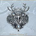 Bracelet mariage celtique elfique medieval cernunnos labradorite wicca pagan celtic herne cuff