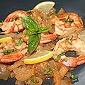 Gambas (grosses crevettes) à la vénitienne