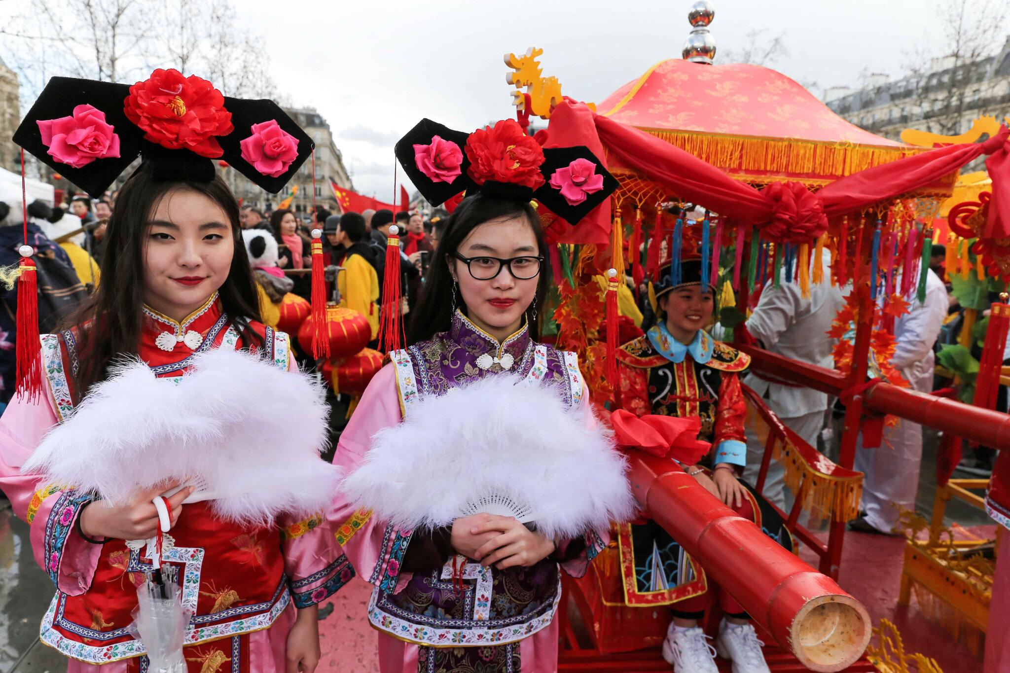 La communauté chinoise à Paris fête l'année du Porc. © Michel Stoupak. Dim 10.02.2019, 13h54m00.