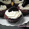 Cupcake aux oréo glaçage chocolat blanc