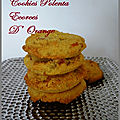 Cookies polenta et écorces d'orange
