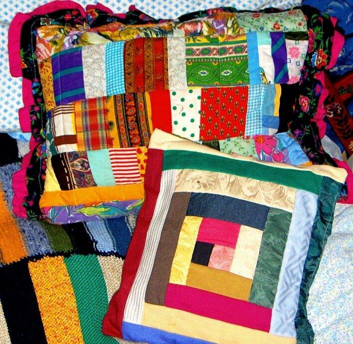 coussins patchwork