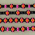 Bracelets fluo rose_orange