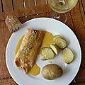 Filet de saumon à la sauce maracudja