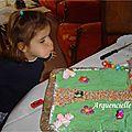 Gâteau Maison hansel Gretel ma fille souffle ses bougies