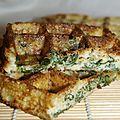 Gaufres aux épinards et mozzarella