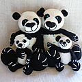 panda-crochet-en-famille
