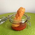 Beignets croustillants de ricotta sèche, condiment au piment d'espelette