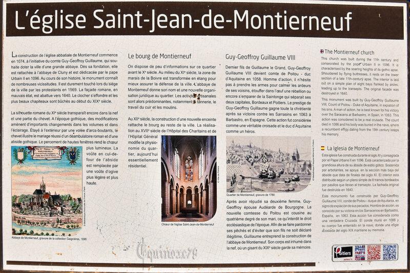 L'église Saint Jean de Montierneuf Guy Geffroy comte de Poitou duc d'Aquitaine