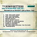 Cd - Pochette (dos) - The Downsetters Live