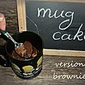 Mug cake chocolat façon brownie
