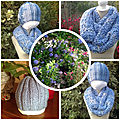 Snood(point turc) bonnet(cotes 2/2)