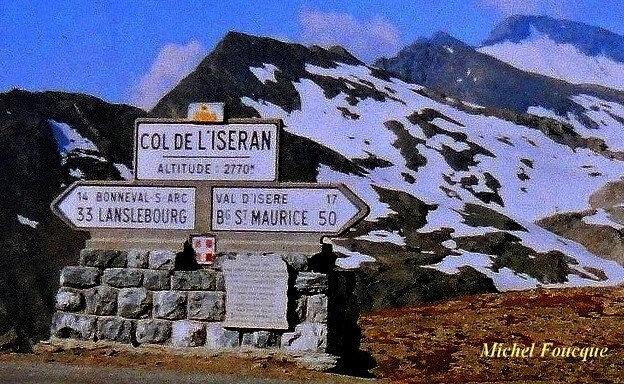 1503) montée à vélo au col de l'Iseran au sommet