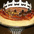 Galette des rois crème d'amande et pommes caramélisées