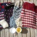 En laine, tricotées avec amour par ma mamie