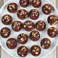 Mini tartelettes au chocolat et orange confite