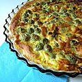 Tarte aux olives vertes
