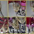 Flûtes à champagne en habit de fête