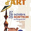 Salon métiers d'art fin octobre