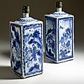 Pair of Bottles, China, Ming dynasty, Tianqi (1621-27) or Chongzhen (1628-44) re