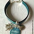 Bracelet de Super Nounou (turquoise) - 22 €