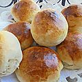 Buns pain pour hamburgers ou pour saucer au yaourt nature